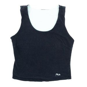 FILA Tank Top Shirt Reversible Embroidered Blue Md